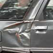 Dented car side — Stock Photo