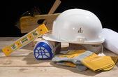 Safety gear kit — Stock Photo