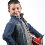 Boy in a red helmet — Stock Photo #2403006