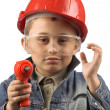 Royalty-Free Stock Photo: Boy in a red  helmet