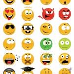 Smiley faces — Stock Vector