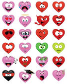 Heart-shaped emoticons — Stock Vector