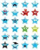 Star-shaped emoticons — Stock Vector