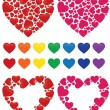 Hearts, mosaic and rainbow — Stock Vector #1991430