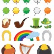 St. Patricks day icon set — Stock Vector