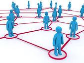 Concept afbeelding van netwerken. deze afbeelding is 3d render. — Stockfoto