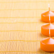 Orange candles — Stock Photo