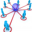 Stock Photo: Global networking