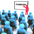 Stock Photo: Teamwork seminar