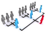 Simple organizational structure — Stock Photo