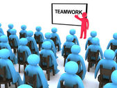 Teamwork seminar — Stock Photo