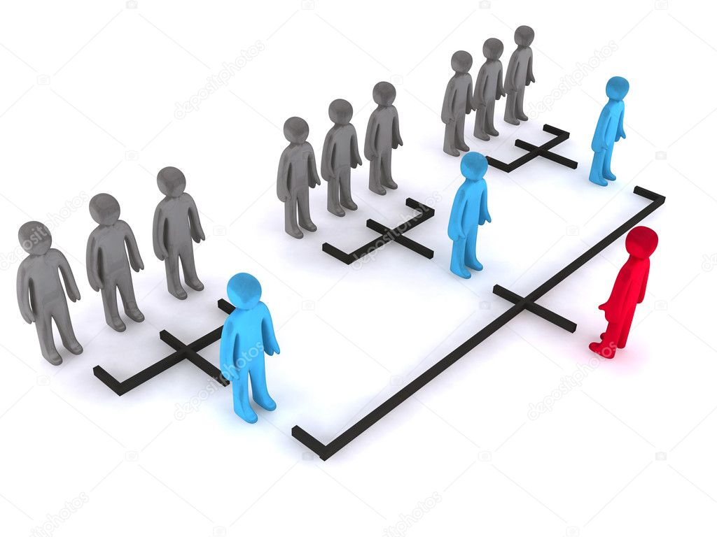 Three levels of organizational structure. This is 3d render. — Stock Photo #1917639