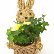 Knitted Easter Bunny - Stock Photo