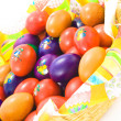 Easter eggs basket — Stock Photo