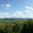 Beautiful Carpathian Mountains panorama — Stock Photo