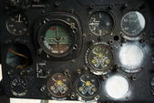 Aircraft gage panel — Stock Photo