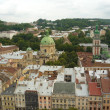 Lviv view from height — Stock Photo