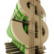 Buildings in the form of a dollar sign — Stock Photo