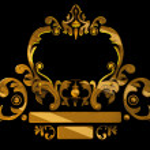 Gold decoration isolated on black — Stock Photo #2025055