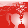 Valentine&#039;s Day postcard - Stockfoto