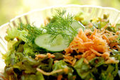 Salad from sea kale — Stock Photo