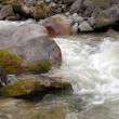 Stock Photo: The fast mountain river