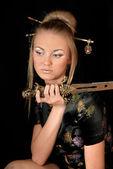 Beautifu girl in oriental style — Stock Photo