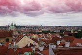 Prague summer panorama — Stockfoto