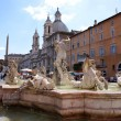 Royalty-Free Stock Photo: Fontana del Moro at Piazza Navona