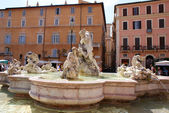 Fontana del Moro at Piazza Navona — Stock Photo