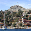 Ancient fortress in Kekova — Stock Photo