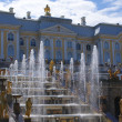 Fountains in Saint Petersburg — Stock Photo