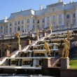 Stock Photo: Fountains in Saint Petersburg