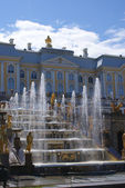 Fountains in Saint Petersburg — Stock Photo