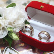 Wedding rings and rose — Stock Photo #1931021