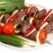 Stock Photo: Appetizing shish kebab