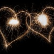 Stock Photo: Sparkling Hearts