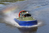 Boundary boat on an air cushion — Stock Photo