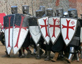 Knightly tournament — Stock Photo