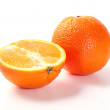 Two oranges — Stock Photo