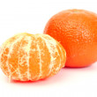 Two tangerines — Stock Photo