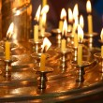 教会のキャンドル — ストック写真