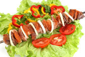 Appetizing shish kebab — Stock Photo