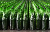 Green empty bottles — Stock Photo