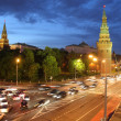 Kremlin in Moscow at night - Stock Photo