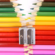 Colored pencil zipper — Stockfoto