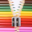 Colored pencil zipper — 图库照片
