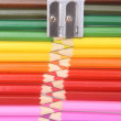 Stock Photo: Colored pencil zipper