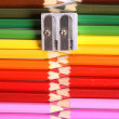 Colored pencil zipper — Stock Photo