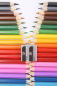 Colored pencil zipper — Zdjęcie stockowe